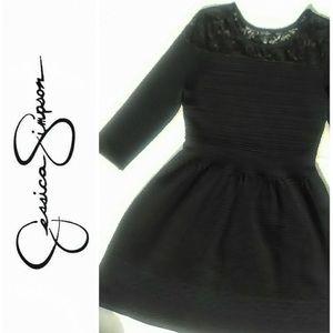 Jessica Simpson Ribbed A-line Midi Dress